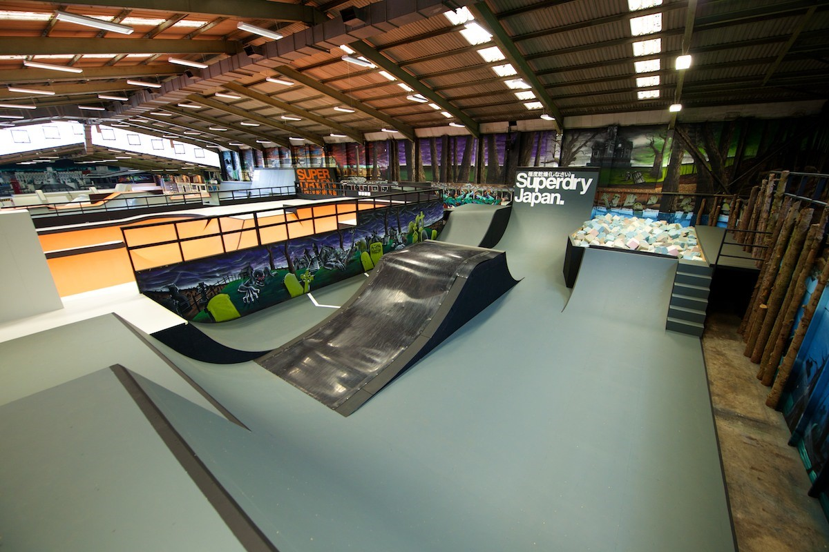 Guide to rush skatepark for Indoor skatepark design uk