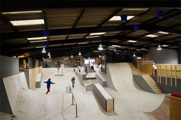 Guide to prevail skatepark for Indoor skatepark design uk