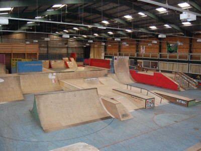 Guide to ramp city wsa skatepark blackpool for Indoor skatepark design uk