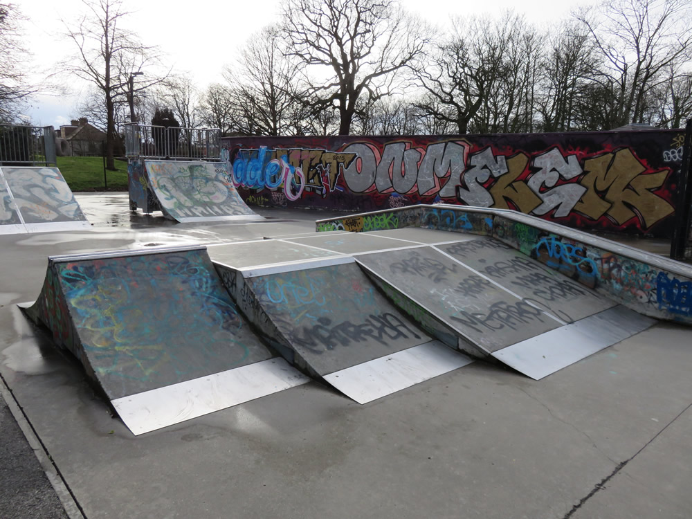 Guide to alexandra palace skatepark ally pally for Indoor skatepark design uk