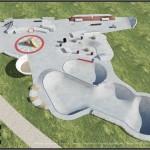 Peacehaven skatepark layout